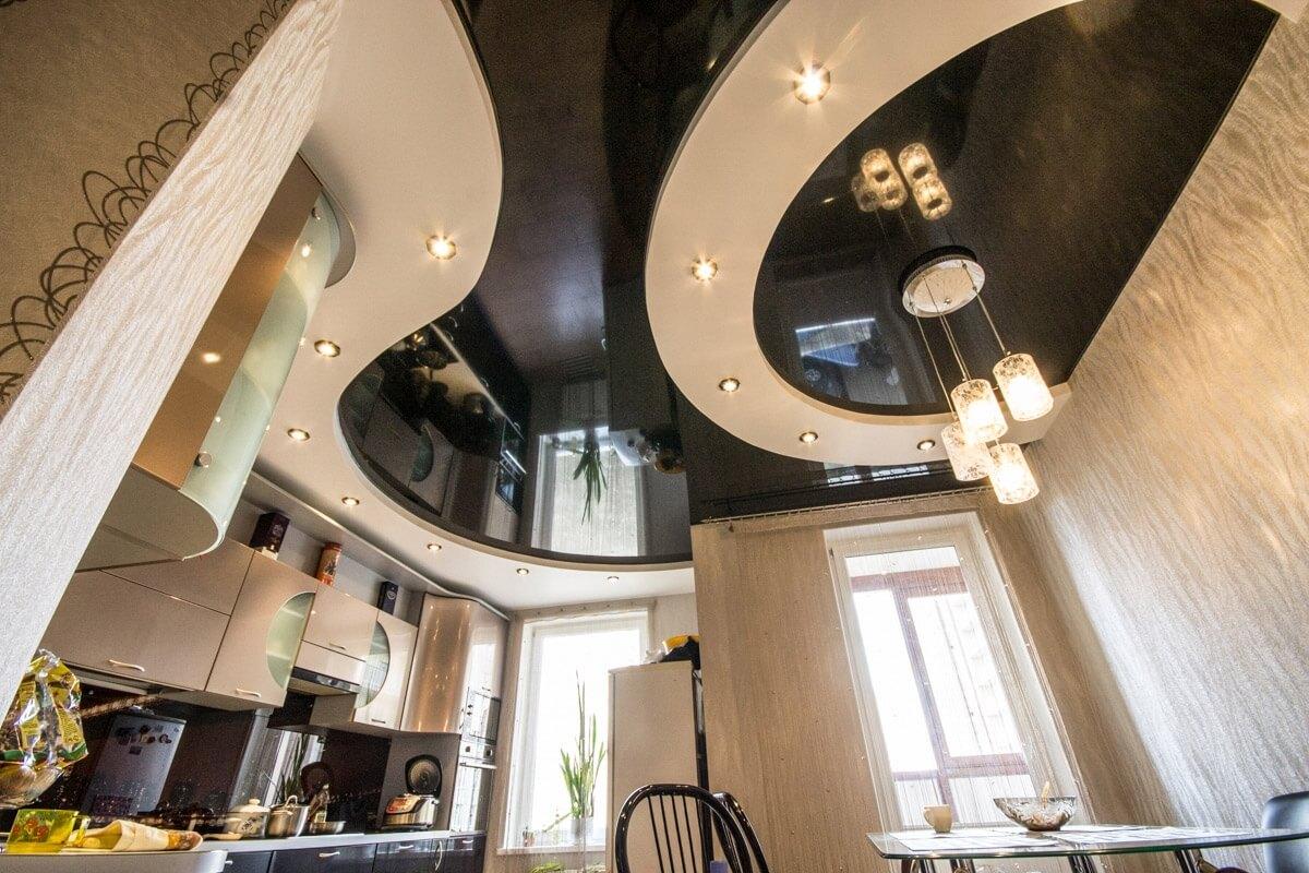 показать вам дизайн двухуровневого натяжного потолка фото оптовые продажи белорусской